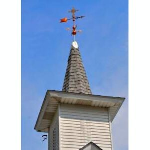 Arrow Weathervane with Crucifix
