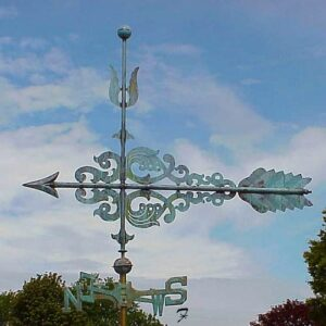 Art Nouveau Scroll Arrow Weathervane