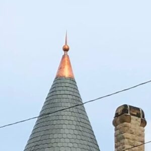Ball & Tall Cone Roof Finial