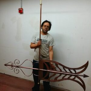 Christian Arrow Weathervane*