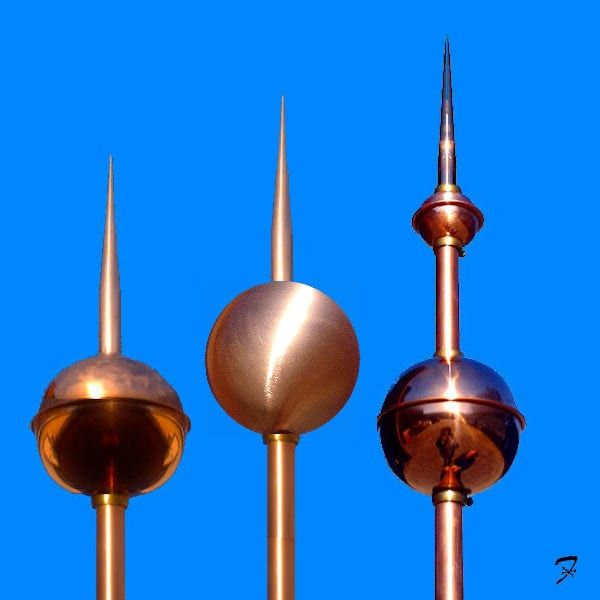 ball spears roof finials - Roof Finials