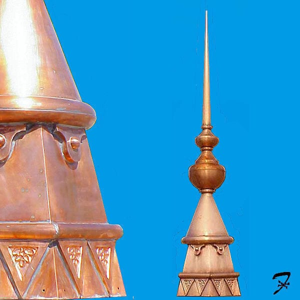 queen anne roof finial - Roof Finials