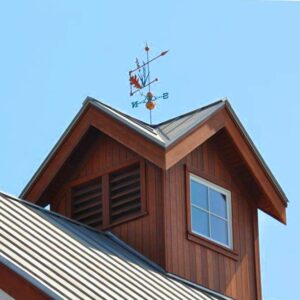 Leaves & Grasses Banner Weathervane