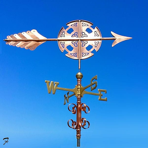 Weathervane Arrow Celtic Cross b