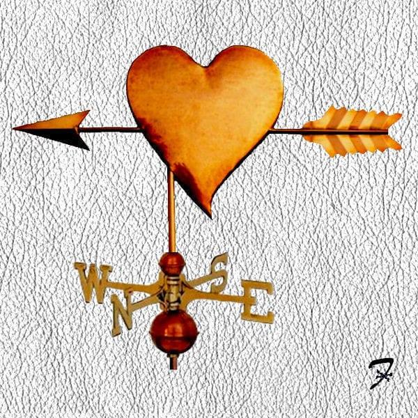 Weathervane Arrow Heart