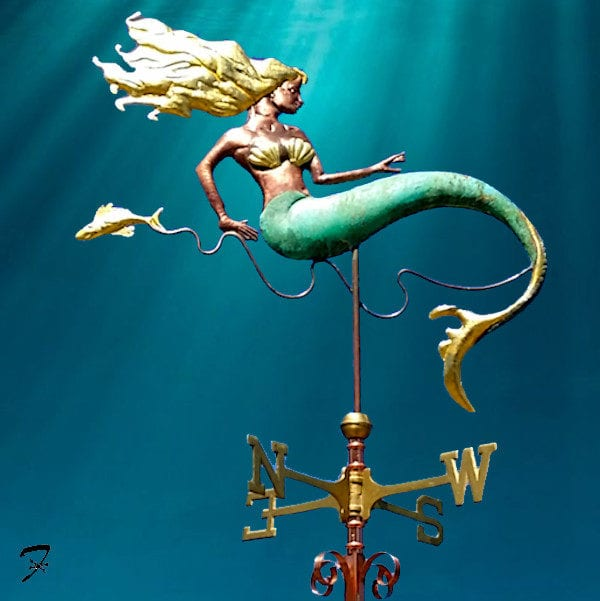 Weathervane Aquatic Mermaid Fantasy