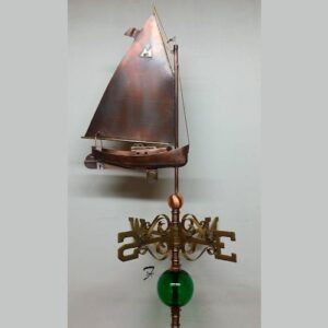 Sailboat Weathervane, Catboat
