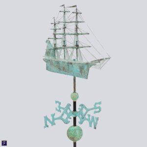 Ship Weathervane, Clipper