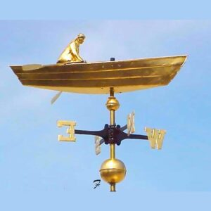 Dory & Fisherman Weathervane