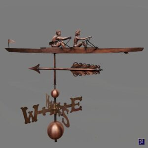 Rowing Shell Sculler Weathervane