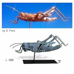 Grasshopper Weathervane, Cushing Replica