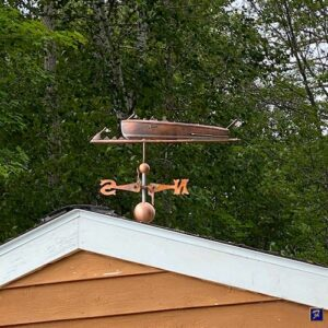 Power Boat Weathervane Vintage Speedboat Style