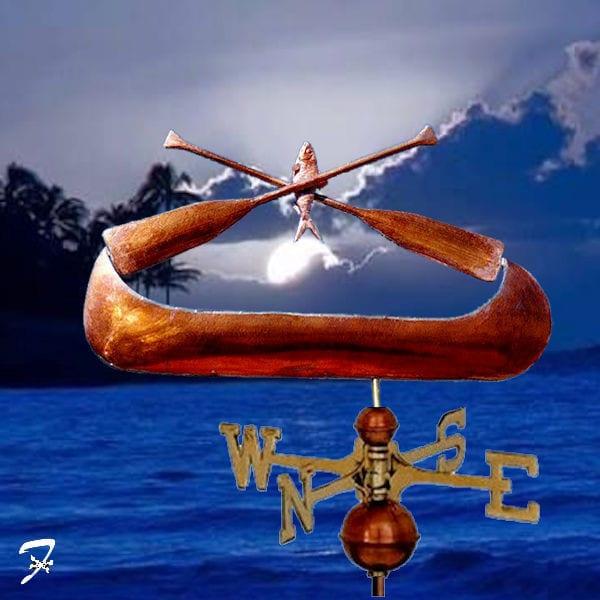 Canoe Weathervane Logo Ferro Weathervanes