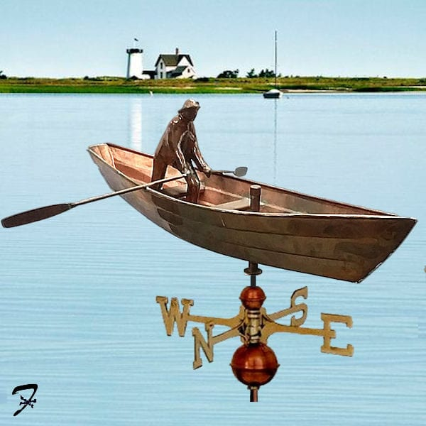 Weathervane-Boat-Dory-Fisherman