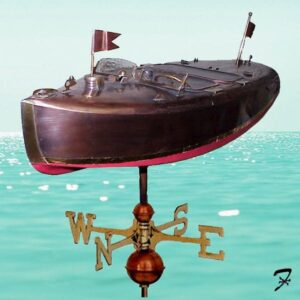 Power Boat Weathervane, Chris Craft Style 3-D*