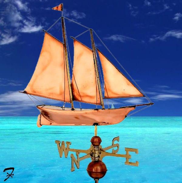 Weathervane Boat Schooner