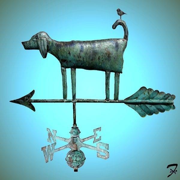 Weathervane Dog Folk Art