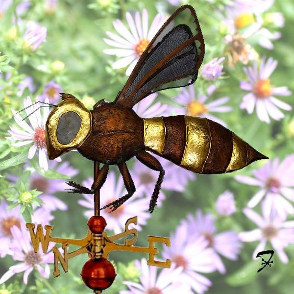 Bee Weathervane Ferro Weathervanes