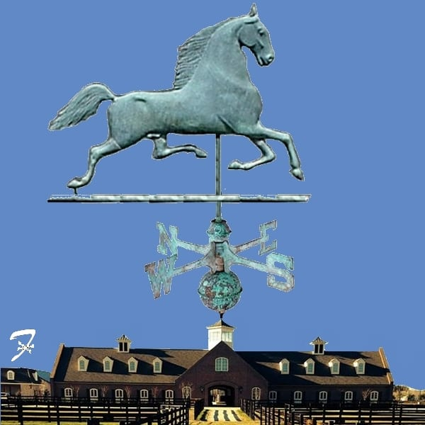 Blackhawk Horse Weathervane - Ferro Weathervanes