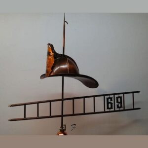 Fire Helmet & Ladder Weathervane