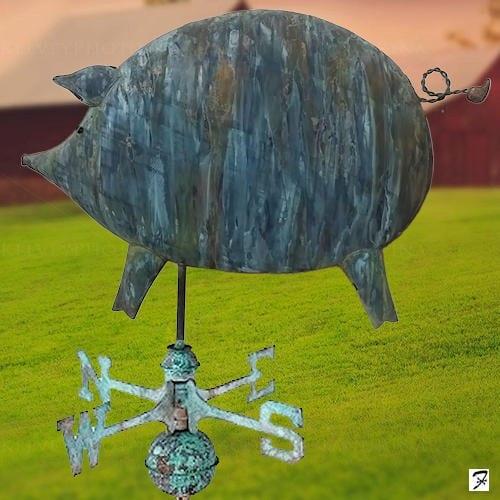 Folk Art Pig Weathervane
