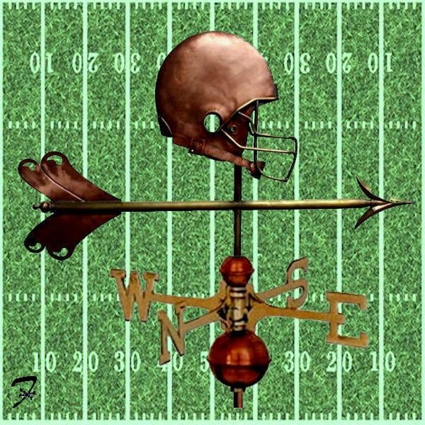 Football Helmet Weathervane