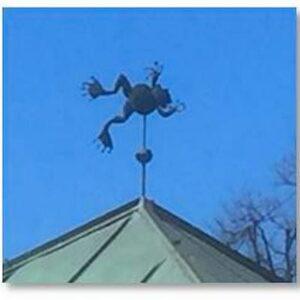 Frog Weathervane, Leaping