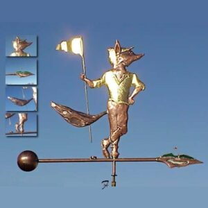 Golfer Weathervane, Fox*