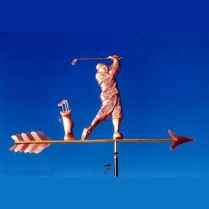 Golfer Weathervane, Traditional
