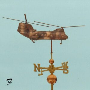 Helicopter Weathervanes – Swelled Body*