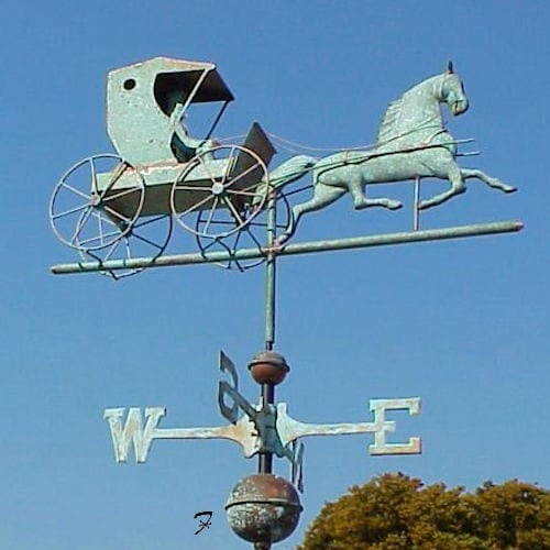 Horse And Carriage Weathervane Ferro Weathervanes