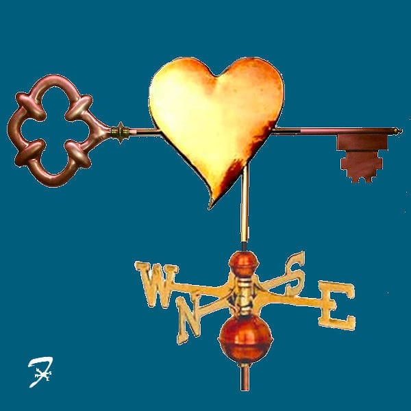 Key To Her Heart Custom Weathervane