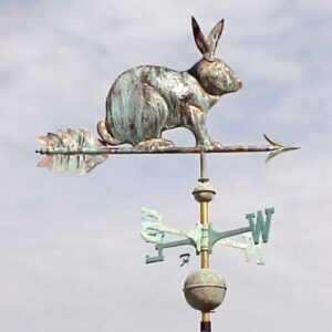 Rabbit Weathervane, Sitting