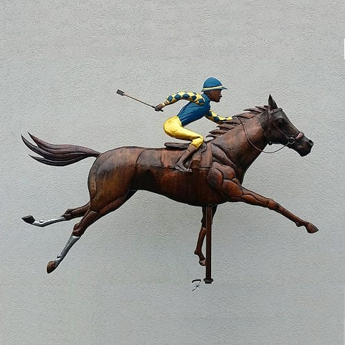 Race Horse Weathervane with jockey