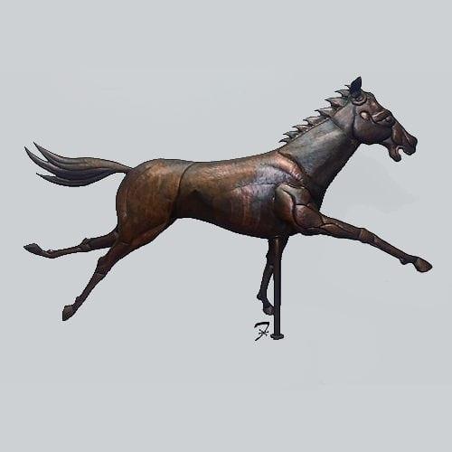 Race Horse Weathervane Ferro Weathervanes