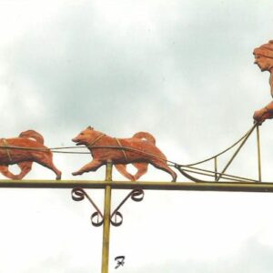 Samoyeds Dog Sled Weathervane, Custom*
