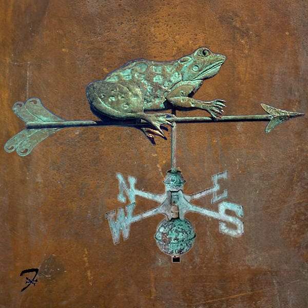 Sitting Frog Weathervane
