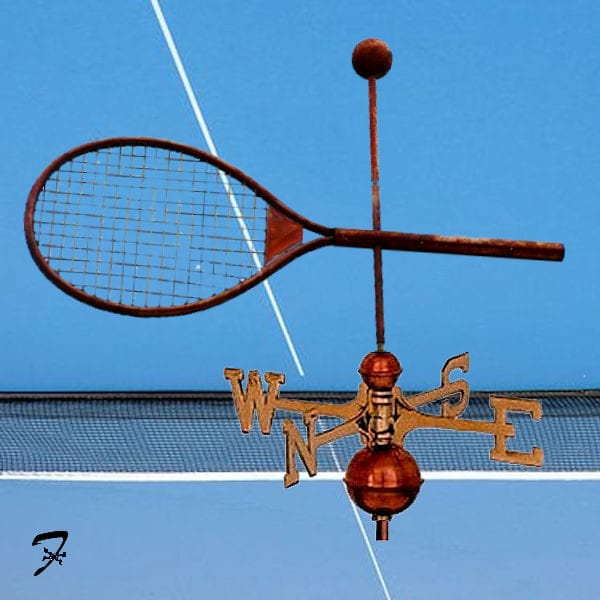 Tennis Racket Weathervane