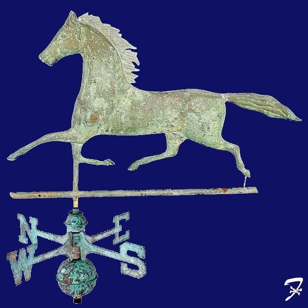 Trotting Horse Weathervane, Trotter