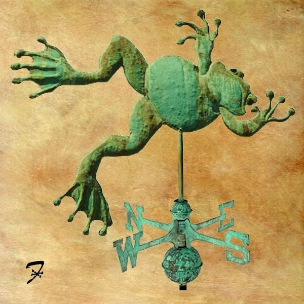 Weather Frog Weathervane