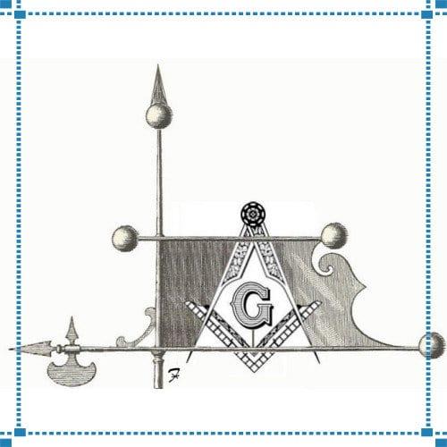 Masonic Bannerete Weathervane – Burris Estate
