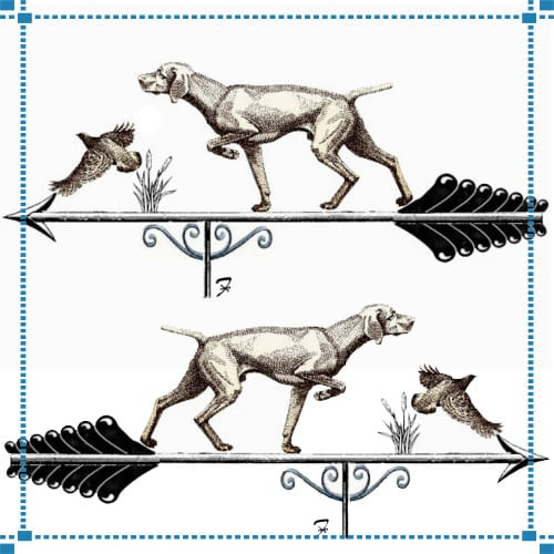Pointer and Quail Weathervane – Key Construction