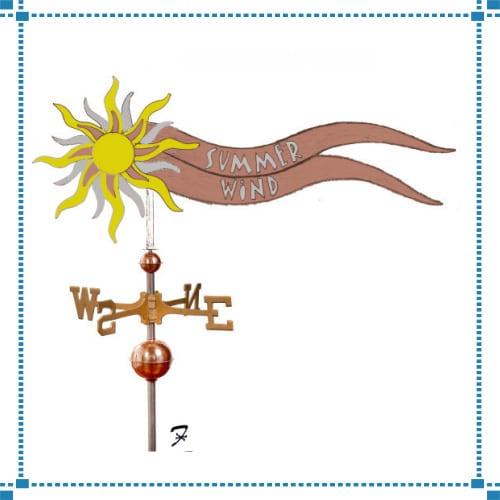 Summer Wind Weathervane – Stewart Residence
