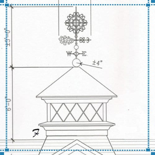 Sundown Oak Weathervane – Savoie/McCool Estate