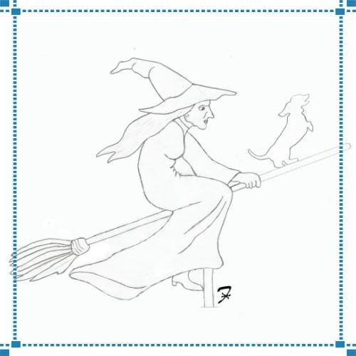 Witch & Dachshund Weathervane – Ianotti Residence