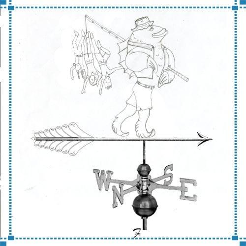 """Fishing With The Kids"" Weathervane  – LeBlanc Home"