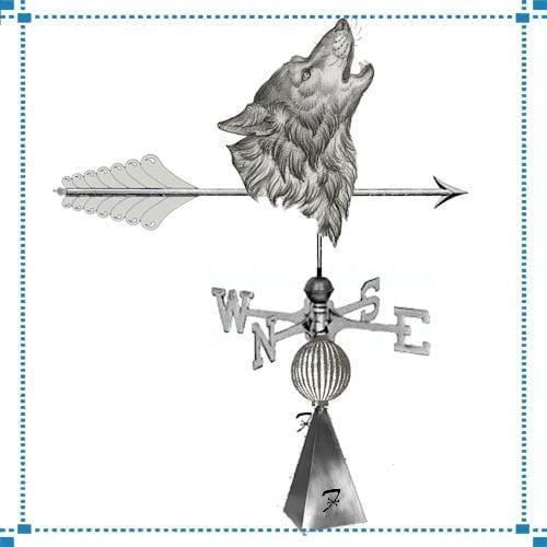 Wolf Head Weathervane – Stemler Corporation