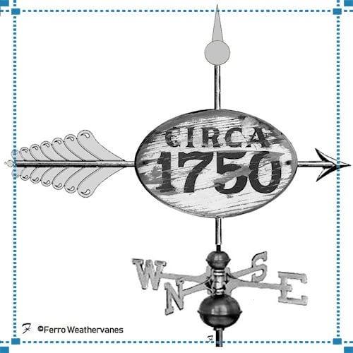 Circa 1750 Sign Weathervane – Harvey Co.