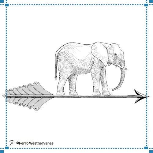 Elephant Weathervanes – Fisher and Lubert