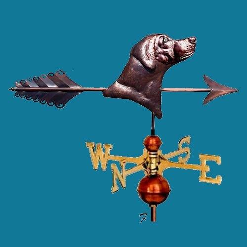 Dog Head Weathervanes